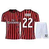 Kaká # 22 Männer Fußball Jersey-T-Shirt -Short Sleeve Fans Sport Trikots T-Shirts (Color : A,...