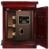 Security Box Haushalt Invisible Sicher High-End-Holz Sicher Nachttisch Elektronischer Safe Weiß...