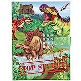 Depesche 10972 Tagebuch mit Code und Sound, Dino World Cars, grün, ca. 20,5 x 15 x 3 cm