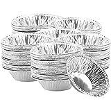 Aluminiumfolien-Kuchenformen Ei-Mini-Kuchenformen 300 Stck, Tortenformen mit Einem Durchmesser von 7...