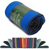 Rutschfestes Yogahandtuch mit Silikon-Dots (Noppen) »Chandra« Anti-Slip Oberfläche Premium Yoga...