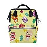 Happy Ostereier Kaninchen Blumen Schulrucksack Große Kapazität Mama Taschen Laptop Handtasche...