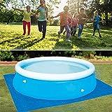 Swimmingpool Square Ground Cloth Lippenabdeckung Staubdichte Boden-Stoffmattenabdeckung für...