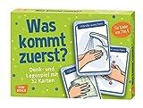 Was kommt zuerst?: Denk- und Legespiele mit 32 Karten für Kinder von 3 bis 8: Denk- und Legespiele...