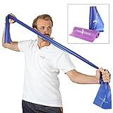 hoopomania Fitnessband - Gymnastikbnder fr Yoga, Pilates oder Rehabilitation, Blau, 150 x 15 cm,...