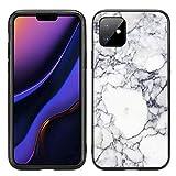 Atomic Market Schutzhülle für iPhone 11 6.1 2019, Marmor-Optik, Weiß