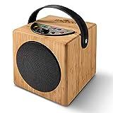 KidzAudio Badoo - der Mobile Kinder-Lautsprecher und MP3-Player aus Holz mit eingebautem Mikrofon...