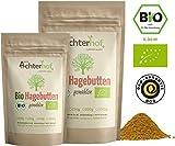 Bio Hagebuttenpulver (500g) | ganze Hagebutte gemahlen | 100% ECHTES Bio Hagebutten Pulver in...