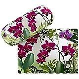 VON LILIENFELD Brillenetui Orchideen Hardcase Geschenk Stabil Set mit Putztuch Damen Brillenputztuch...
