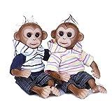 GiDiMi 30 cm große Mini-Puppe mit realistischem Affenmotiv, weiches flexibles Silikon, Baby-Puppe,...