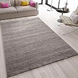 VIMODA Teppich Modern Grau Kurzflor Meliert Farbecht Pflegeleicht, Maße:200 x 290 cm