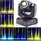 UKing Moving Head LED 50W DJ Party Lichteffekt DMX512 Disco Bühnenlicht 8 Muster 8 Farben 10/12...