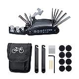 Wencaimd Fahrradreifen-Reparatur-Set, 16-en-1, multifunktionale Notfall-Reparatur-Kits mit...