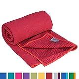 GRIP2 Yoga Towel, Yoga-Handtuch mit Antirutsch-Noppen, rutschfest, Mikrofaser-Yogatuch, sehr gut fr...