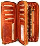Hill Burry hochwertige XXL Vintage Leder Damen Geldbörse Portemonnaie langes Portmonee Geldbeutel...