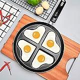QQDL Omeletttopf Gebratener Steaktopf Antihaft-Pfanne Frühstückstopf einzigartig kratzfester...