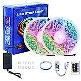 WiFi LED Strip 10m ,LED Lichterkette mit Fernbedienung,RGB LED Streifen Sync mit Musik, Wasserdicht...