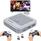 Retro Arcade Spielekonsole WiFi Super Console X mit 33000 Spiele + 2 Bluetooth Gamepads, 1280*720...