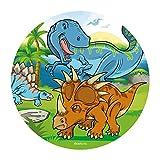Dekora - 145093 Dinosaurier Tortenaufleger aus Esspapier|aus Reispapier| - 20 cm