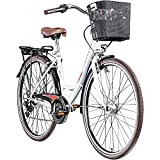Zündapp Z700 700c Damenfahrrad Hollandrad Damenrad Fahrrad Stadtrad 28 Zoll (weiß/rot, 46 cm)