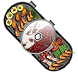 ZHHWYP Innengrill, elektrischer Teppanyaki-Tischgrill, einfache Reinigung der Kochfläche und...