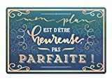 Art Grafik Wandschild | Vintage Art | Blechschild | Metall | Wanddekoration | 30 x 20 cm (Mon plan...