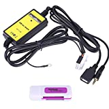 Gorgeri Aux-In Adapter, Auto USB Aux-In Adapter MP3-Player Kabel Radio Audio-Schnittstelle