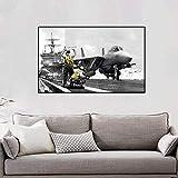 Geiqianjiumai Flugzeug Poster und Drucke Wohnzimmer Wandbild Wandkunst Dekoration Leinwand Wandbild...