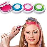 Gychee Haarfärbepuder ohne Stimulation Einfach zu reinigen Einweg-Haarfärbepuder, temporäres...