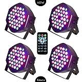 LED PAR Licht 36W 36LEDs RGB 7 Beleuchtung 4 STCK Modi Disco Lichteffekte dj party Licht...