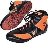 VELO Leder Boxschuhe Sport Training Unisex Mesh Genuine Boot Light Weight Orange, Orange / Schwarz,...