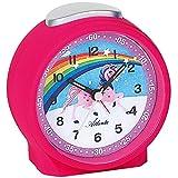 JG Atlanta 1981/17 Wecker für Kinder Kinderwecker Einhorn pink leise Einhornwecker