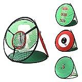 ZHRLQ Pop-Up-Golf-Chipping-Netz, 4-in-1-Zubehör für Golf-Zielscheiben...