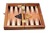 Logica Giochi Art. Backgammon M – Brettspiel aus Holz, zusammenklappbar, tragbar.