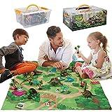 Dinosaurier-Spielzeug,Figur mit Aktivitt Spielmatten & Bume, pdagogisch Realistisches...