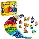 LEGO 11013 Classic Kreativ-Bauset mit durchsichtigen Steinen und Tieren für Kinder ab 4 Jahren