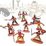 German Trendseller - 6 x Indianer - Spielzeug Figuren ┃ NEU ┃ Kindergeburtstag ┃ Mitgebsel Mix...