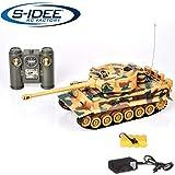 s-idee 22003 Battle Panzer 99808 KingTiger 1:28 mit integriertem Infrarot Kampfsystem 2.4 Ghz RC R/C...