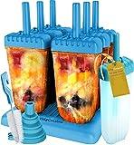 HelpCuisine EIS am Stiel Bereiter, fr Kinder, 6 Stck mit Reinigungsbrste und Falttrichter (Blau)