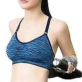 probeninmappx Frauen Stoß- Wirefree Sport Unterwäsche Mädchen Quick Dry Yoga Laufen Bra,Blue,S