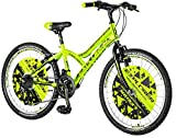 breluxx 24 Zoll Kinderfahrrad Mountainbike Hardtail Explorer Legion Sport grn, 18 Gang - Made in EU