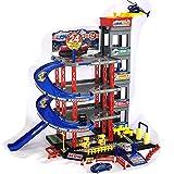 Parkgarage Spielzeug Kinder Autogarage Parkhaus Garage incl. 4 Spielzeugautos und Hubschrauber...