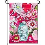 jiaxingdalin Premium-Garten Flagge, Sein Mir Kiss Me Jar Valentine 'S Day Bouquet dekorative Garten...