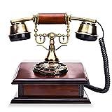 Wjvnbah Schnurgebundene Festnetztelefone Holz, Metall, im europischen Stil Antike Phone Mode...
