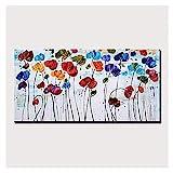 LSHUAJIANG Ölgemälde handgemalt auf Leinwand, minimalistische Blumenfarbe, Vintage, abstrakt,...