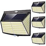 Solarlampen für außen mit bewegungsmelder, [4 Stück] 228 LED 3 Modi 270° solar bewegungsmelder...