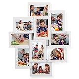SONGMICS Bilderrahmen Collage für 10 Fotos, je 10 x 15 cm (4' x 6'), aus MDF-Platten, Montage...