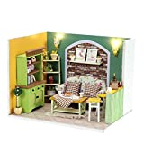 Kinder Bausteine  DIY Hütte 3D-Puzzles aus Holz handgemachte Minipuppen DIY Kit Licht...