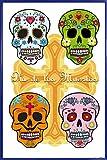 1art1 Totenköpfe Poster und Kunststoff-Rahmen - Mexikanische Totenschädel, Calaveras (91 x 61cm)