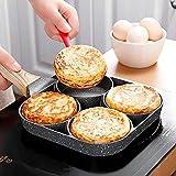 Vier-Loch-Brat-Pot-Pan verdickte Omelett-Pan-Non-Stick-Ei-Pancake-Steakpfanne, die Ei-Ham-Pans...